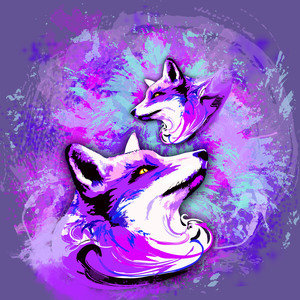Purple Fox Spirit