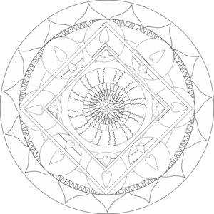 Infinite Financial Abundance Mandala BW