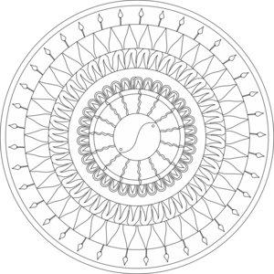 Yin And Yang Mandala BW