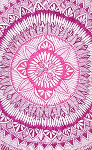 Pink And Purple Mandala