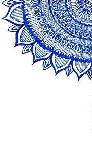 Blue Corner Mandala