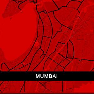 Mumbai Map In Red