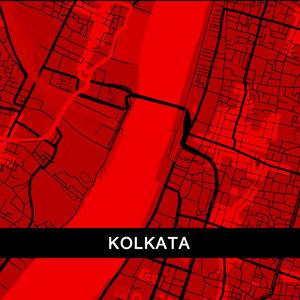 Kolkata Map In Red
