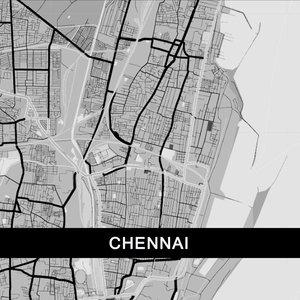 Chennai Map In Grey