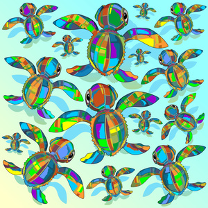 Baby Sea Turtle Fabric Toy Pattern