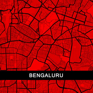 Bangalore Map In Red
