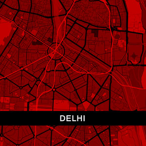 Delhi Map In Red