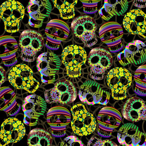 Sugar Skulls Halloween Pattern
