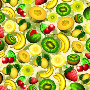 Summer Fruits Juicy Pattern